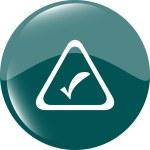 White tick mark on a web button. Isolated on white background — Stock Photo #47306709