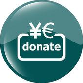 Donate sign icon. Euro eur and yen symbol — Stock Photo