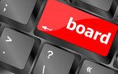 Vorstand-schaltfläche auf computer-pc-tastatur-taste — Stockfoto