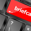 Briefcase text button on keyboard with soft focus — Stock Photo