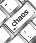 Chaos keys on computer keyboard, business concept — Stock Photo