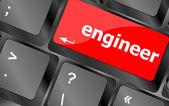 Engineer word on computer pc keyboard key — Stock Photo