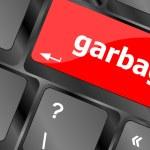 Garbage word on computer pc keyboard key — Stock Photo #47388577