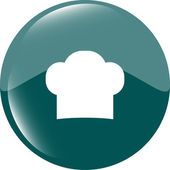 Chef hat sign icon. Cooking symbol. Cooks hat — Stock Photo