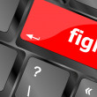 Fight button on computer pc keyboard key — Stock Photo #47768287