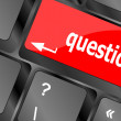 Computer keyboard key with key questions, closeup — Stock Photo #47768555