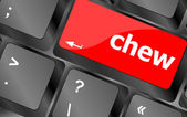 Chew button on computer pc keyboard key — Stock Photo
