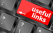 Useful links keyboard button - business concept — Stock Photo