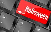 Halloween key on computer vector keyboard — Stock Photo