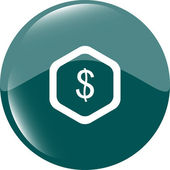 Web icon cloud with dollars money sign — Stock Photo