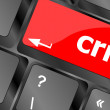 Crm keyboard keys (button) on computer pc — Stock Photo #48066831