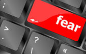 Fear button on computer pc keyboard key — Stock Photo