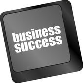 Business success button on computer keyboard key — Stock Photo