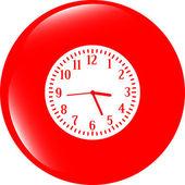 Zegar ikonę przycisku — Zdjęcie stockowe