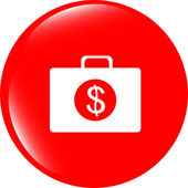 Us dollar glossy icon on white background — Foto de Stock