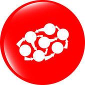 Graph Icon on Round Black Button Collection Original Illustration — Stock Photo