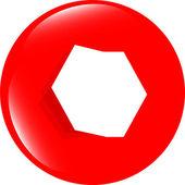 Web knappar för design, ikon med tom tomt vitt papper — Stockfoto