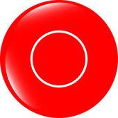 Vazios abstratos círculos brancos no botão web (ícone) isolados no branco — Fotografia Stock