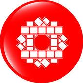 Film strip set glossy web icon button — Stock Photo