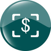 Currency exchange sign icon. Currency converter symbol. Money label. shiny button. Modern UI website button — Stock Photo
