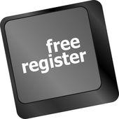 бесплатно зарегистрировать ключ компьютера, показаны интернет логин — Стоковое фото