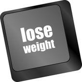 Lose weight on keyboard key button — Stock Photo