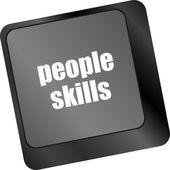 Lidé dovednosti zpráv na slo ená slova, klíč klávesnice — Stock fotografie