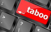 Computer keys spell out the word taboo — Stockfoto