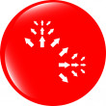 Arrow sign icon set. Simple circle shape internet button — Stock Photo #48151337