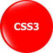 Css style web icon isolated on white, web icon — Stock Photo