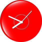 Clock icon web button sign — Stock Photo