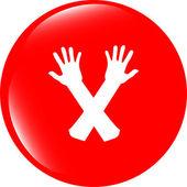 Web button hand icon on white — Stock Photo