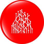 Infográfico moderno modelo. botão do ícone de web — Fotografia Stock
