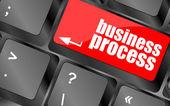 клавиша с кнопкой бизнес процесса, концепции бизнеса — Стоковое фото