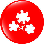 Flower app web glossy icon button — Stock Photo