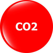 Carbon dioxide web app icon, web button — Stock Photo