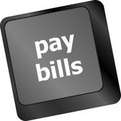 Bills button on the computer keyboard — Foto Stock