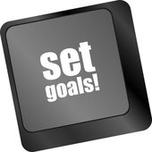 Set goals button on keyboard - business concept — Stock Photo