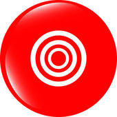 Target sign icon. Pointer symbol. Modern UI website button — Stock Photo