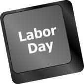 Concept: labor day key on the computer keyboard — Foto de Stock