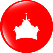 Medieval royal castle - web icon button isolated — Stock Photo