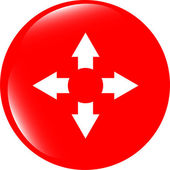 Flèche sur l'icône web (bouton) — Photo