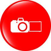 Beyaz arka plan üzerinde izole kamera web simgesi — Stok fotoğraf