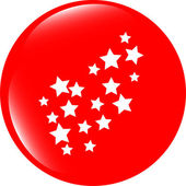 Stars set on web button (icon) isolated on white — Stock Photo