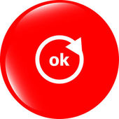 Ok word on sign web icon. web button — Foto de Stock