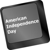 Concept: american independence day key on the computer keyboard — Foto Stock