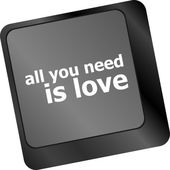 Computer keyboard key - all you need is love — Stock Photo