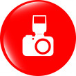 Photo camera web icon, button isolated on white — Stock Photo #48583987