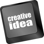 Idéia criativa no botão chave de teclado de computador — Foto Stock