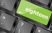 Enter keyboard key with eighteen button — Stock Photo